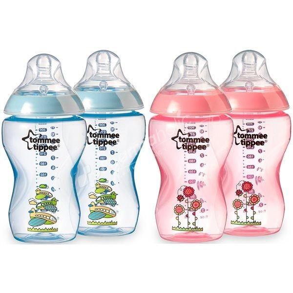 Tommee Tippee closer to nature 340ml bottles 2pk