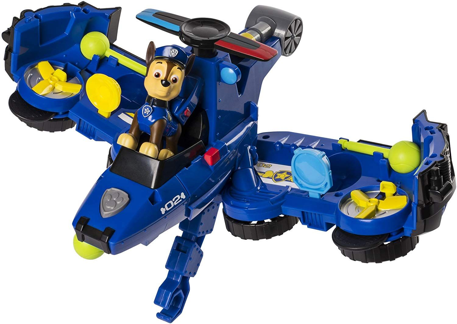 Transforming Vehicle Chase Top Toys