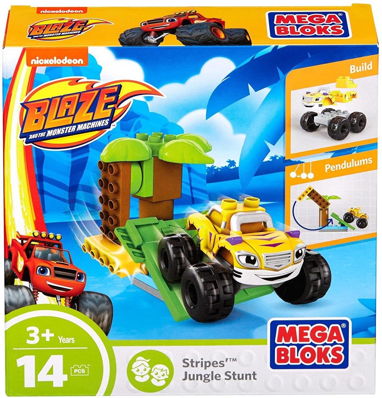 Mega Bloks Blaze The Monster Machines Stripes Jungle Stunt Set Top Toys